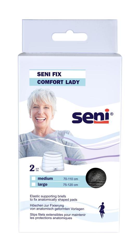 Seni Fix Comfort Lady black Fixier-Hoeschen Gr.L , 2er Packung