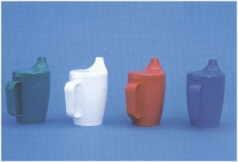 JH.Einnehmbecher XXL m.Griff+Deckel 4mm, blau