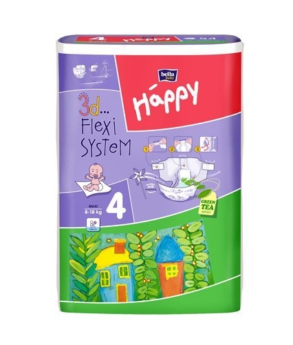 Bella Happy Baby maxi 8-18kg 54er Packung
