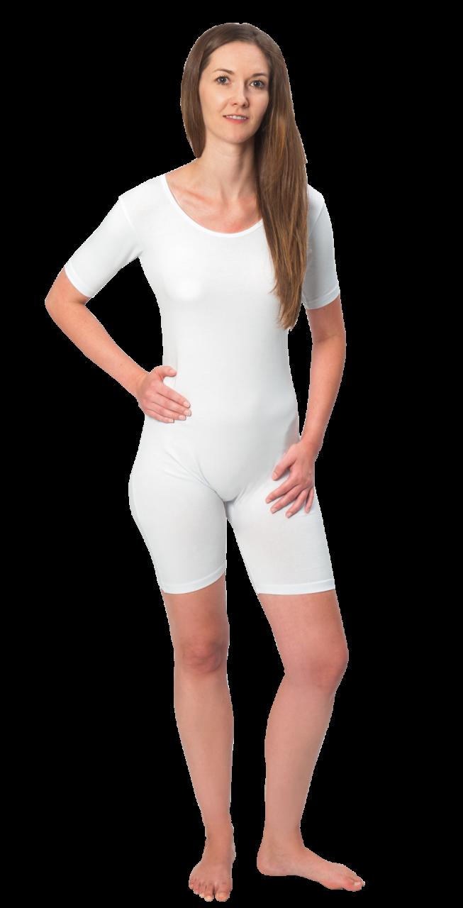 Suprima Body kurzer Arm No.4695, mit Reissverschluss ,weiss