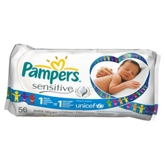 Pampers sensitive feuchte Tuecher 1x56 Stueck Nachfuell-Packung
