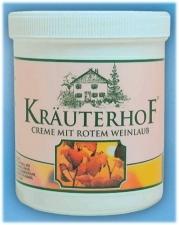 Kraeuterhof Creme mit rotem Weinlaub 250 ml