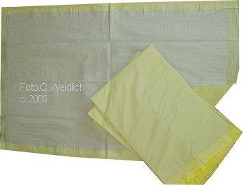 Kolibri Krankenunterlage 60x90 6LG gelb Einzelstueck