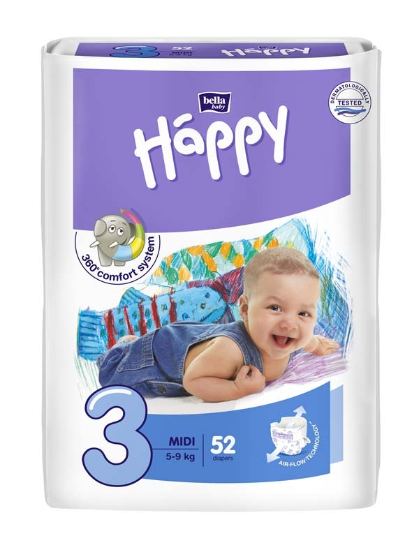 Bella Happy Baby midi 5-9kg 52er Packung