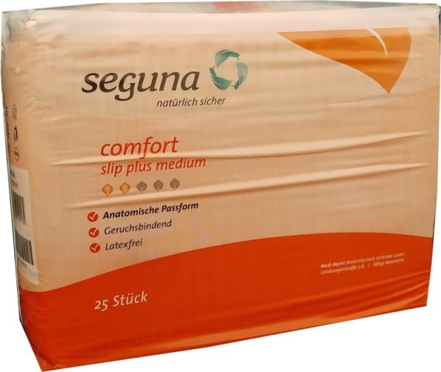 Seguna Comfort Slip plus ,medium, orange ,15.25.31.7057 , 25er Pkg. AE10401