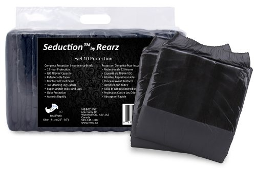 Seduction Windelhose xlarge schwarz , 12er Packung
