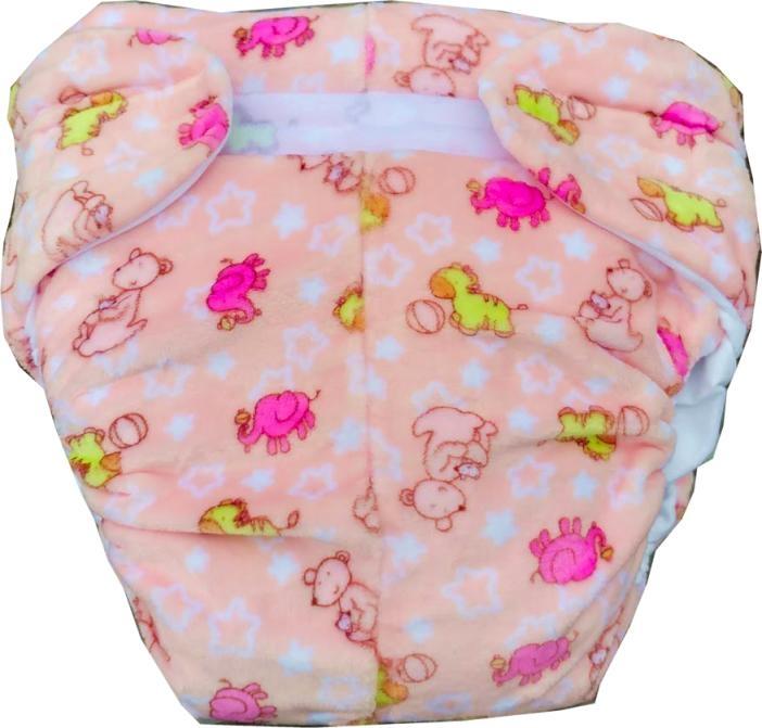 VBA Omutsu Super Windel Seidenfleece rosa kleine Freunde ,Elefanten Kaengurus