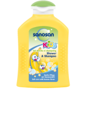 Sanosan kids Shower und Shampoo Banane 200ml