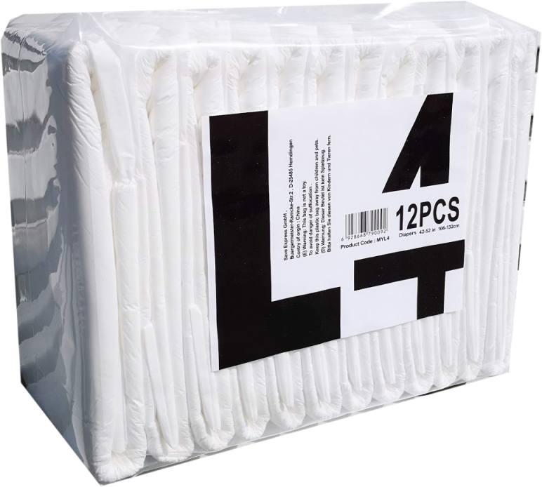 MyDiaper x-Plus L4 Windel Nacht Gr.L , weiss, 12er Packung (X-PLUS L4)