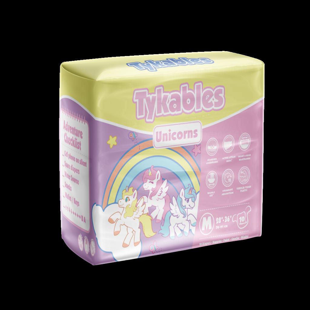 Tykables Unicorns Windelhose medium bunt , 10er Packung