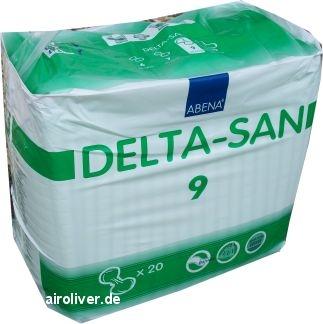 Delta-San Formvorlage No.9 Maxi, gruen ,15.25.01.2087 ,20er Packung