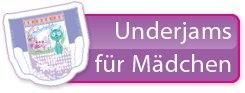 Pampers UnderJams fuer Maedchen Unterwaesche 8-12 Jahre L/XL 27+ kg Einzelstueck