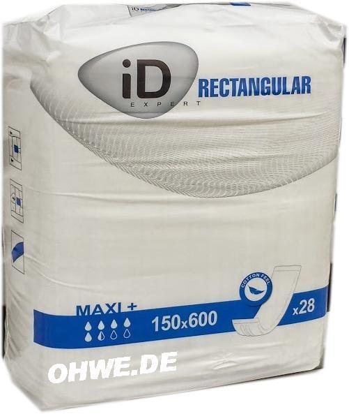 ID-Expert Rectangular Pad Maxi+ Rechteckeinlage / Vorlage 15x60cm ohne Folie ,28er Packung