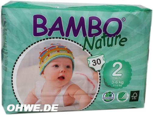 Bambo Nature Mini 3-6 kg Groesse 2 , 6x30 Stueck
