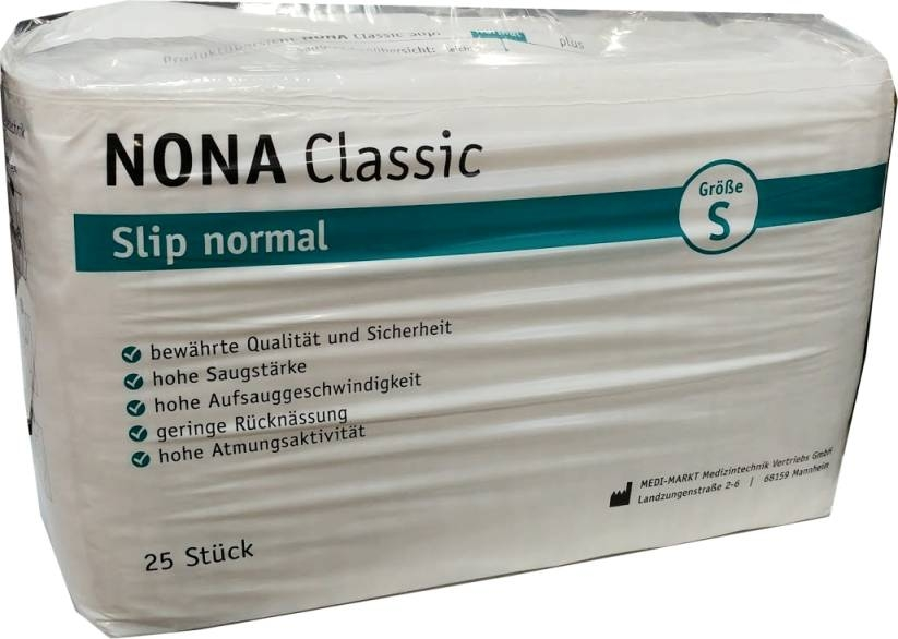 Nona Classic Slip normal small , weiss 25er Packung