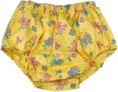 PUL Schlupfhose Slip PVC , PA13 Kindermuster gelb YEM2