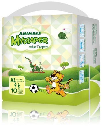 MyDiaper Animal Nacht Windel Gr.XL , bunt, 10er Packung
