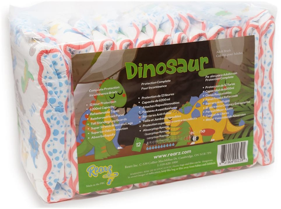 Dinosaur Windelhose large , 12er Packung