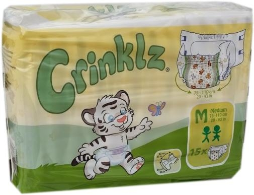 Crinklz Windelhose Medium Nacht bunt , 15er Packung