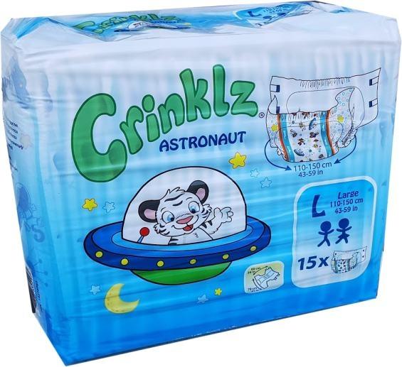 Astronaut Crinklz Windelhose Large Nacht bunt , 15er Packung 15.25.31.8225