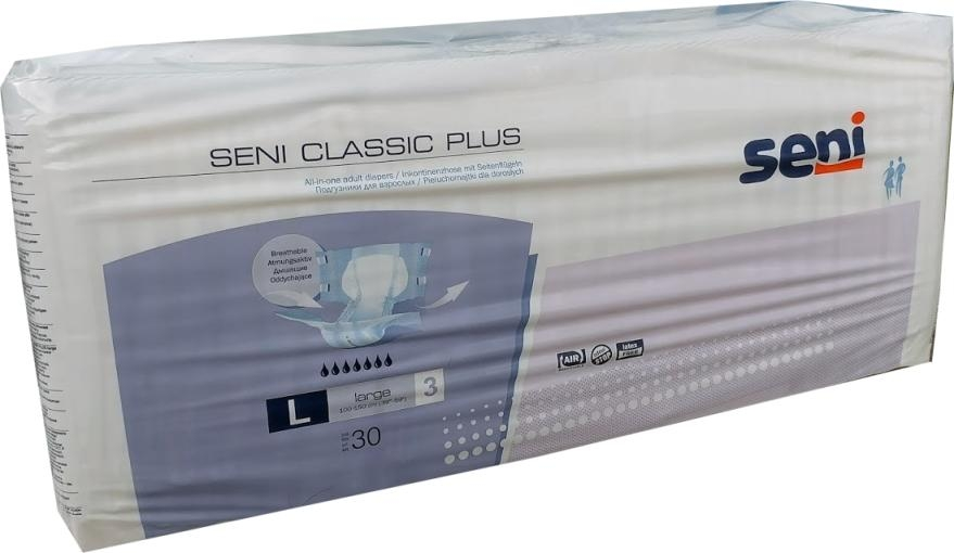 Seni Classic Plus Nacht Windel large Gr.3 , weiss/lila ,15.25.31.8151 ,30er Packung