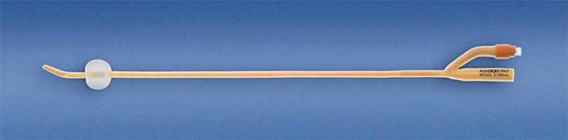 AB. UROSID Latex Tiemann-Ballonkatheter zweilaeufig 5-10 ml CH18 PZN 00182426