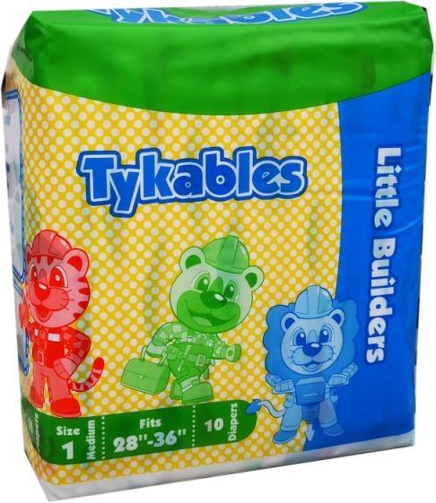 Tykables Little Builders Windelhose medium Size1 ,10er Packung