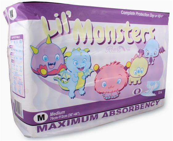 Lil Monsters Windelhose medium, 14er Packung