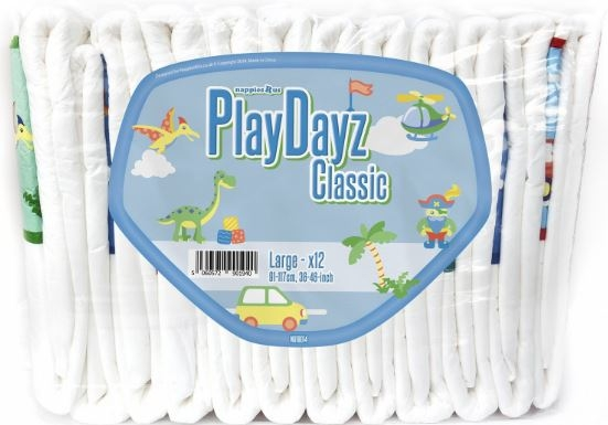 PlayDayz Classic blue Windel large, 12er Packung