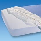 Sonderposten SU. Spannbettuch PVC 140x200cm, weiss PZN10075298