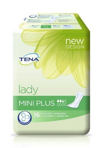 Tena Lady mini plus Einlage, 15.25.30.5057, 16er Packung