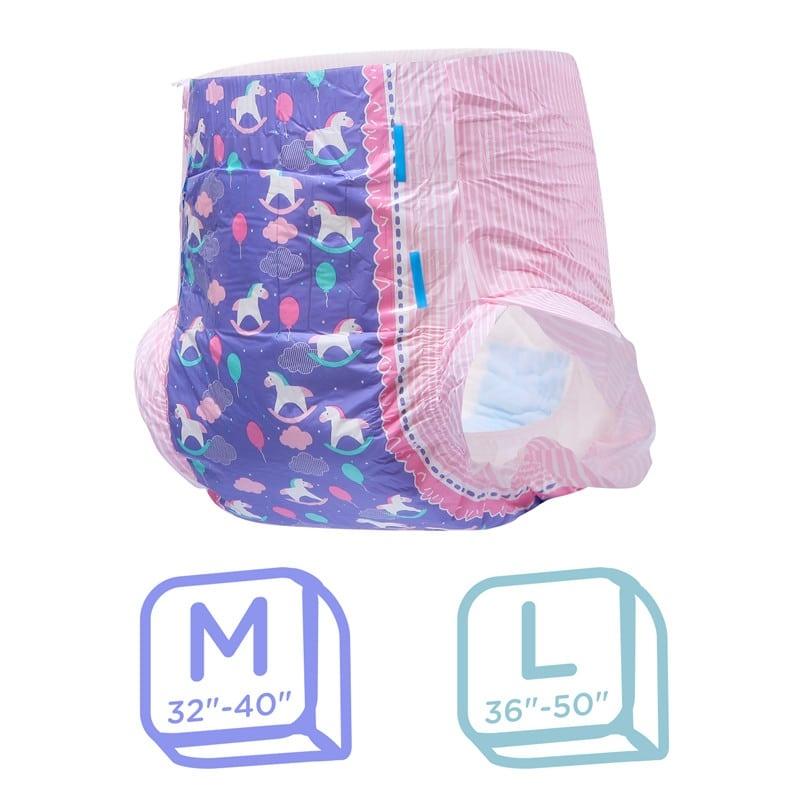 LFB Little Fantasy Adult Diaper, Medium , Einzelstueck