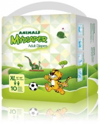 MyDiaper Animal Nacht Windel Gr.XL , bunt, 10er Packung