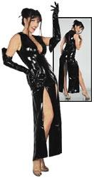 Lack Kleid lang schwarz L 28500011040
