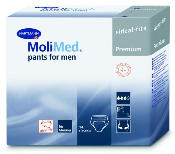 MoliMed Pants for men large Gr.3 , weiss ,14er Packung
