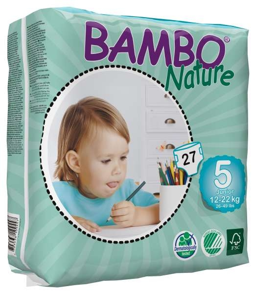 Bambo Nature Junior 12-22 kg , Groesse 5 , 6x27 Stueck