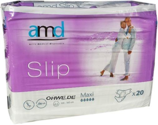AMD Slip Windelhose Gr.M maxi weiss/lila 20er Packung 15.25.31.7046