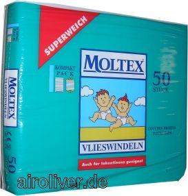 Moltex Vlieswindeln Rectangular Pads ca.12x35cm ,50er Packung