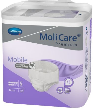 MoliCare Mobile Super Gr.1 small ,weiss/lila ,15.25.24.0004 ,14er Packung