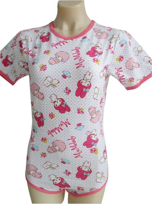 airoliver Body mit Arm und Bein , rosa Rand ArtNr. ao9021 , sheep and girl