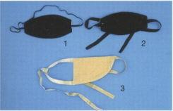 Augenbinde schwarz,oval, mit Gummiband