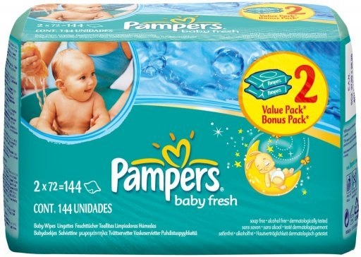 Pampers baby fresh Feuchte Tuecher 1x64 Stueck Packung