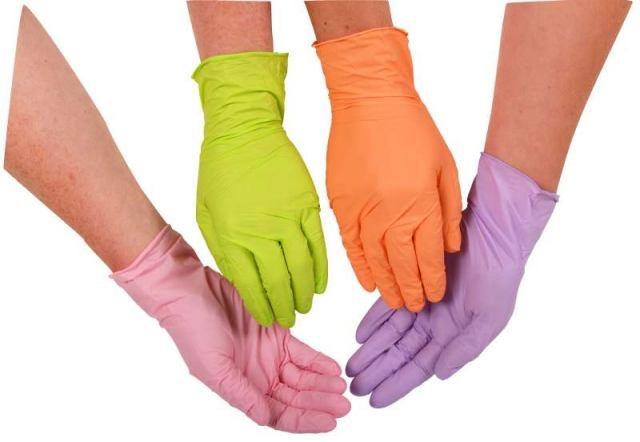 Nitril Handschuhe rosa 100er Packung