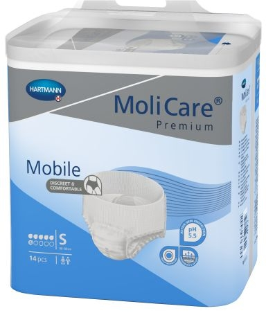 Molicare Mobile Gr.1 small, weiss/blau ,15.25.24.0004 ,14er Packung