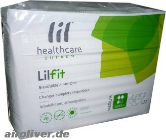 lil healthcare suprem LILFIT T3 SuperPlus large,Nacht ,Windel gruen, 15.25.03.2109, 22er Packung