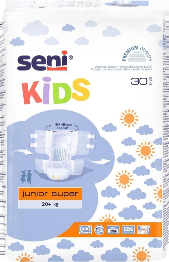 Seni Kids Junior Super Windel +20 kg Windel , weiss/blau ,15.25.03.6002 ,30er Packung