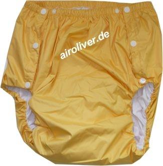 2044 Dicke Schwedenknoepfer PU-Baumwollehose gelb