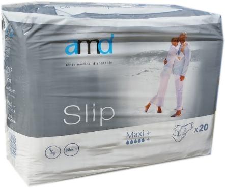AMD Slip Windelhose Gr.L maxi plus+ weiss/grau 20er Packung 15.25.03.1424