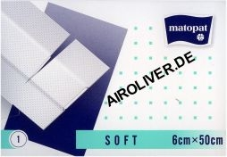 Matopa Pflaster -Soft- 6cm x 50cm Packung