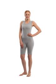 Suprima Body ohne Arm No.4698, mit Bein, mit Reissverschluss grau-grey